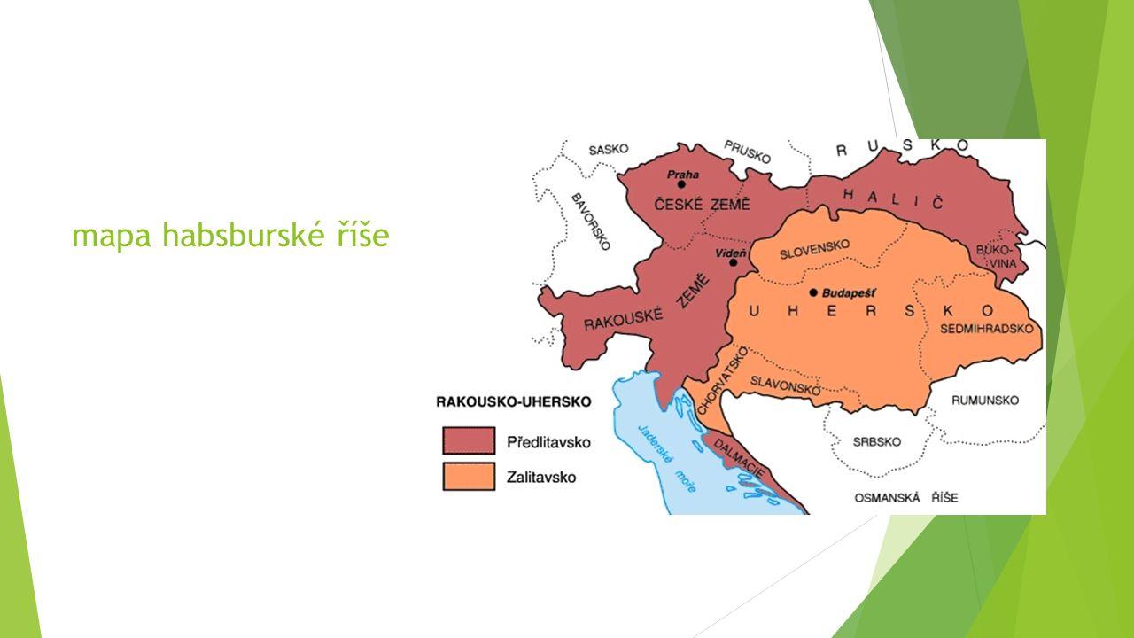 mapa habsburské říše