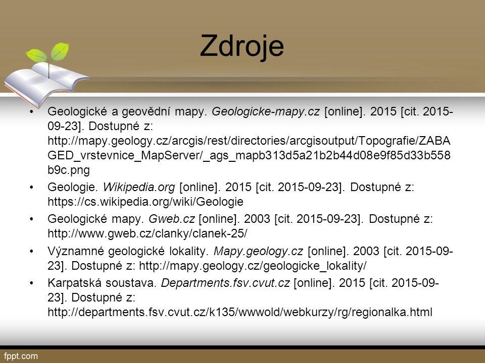 Zdroje Geologické a geovědní mapy. Geologicke-mapy.cz [online].