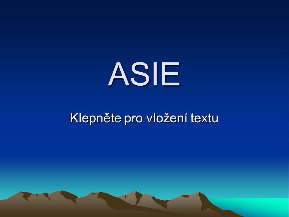 Klepněte pro vložení textu ASIE