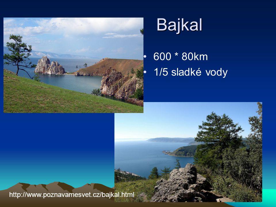 Bajkal Bajkal 600 * 80km 1/5 sladké vody http://www.poznavamesvet.cz/bajkal.html