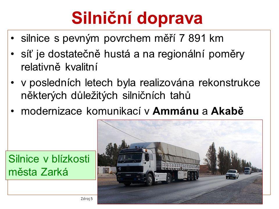 Silniční doprava silnice s pevným povrchem měří 7 891 km síť je dostatečně hustá a na regionální poměry relativně kvalitní v posledních letech byla re