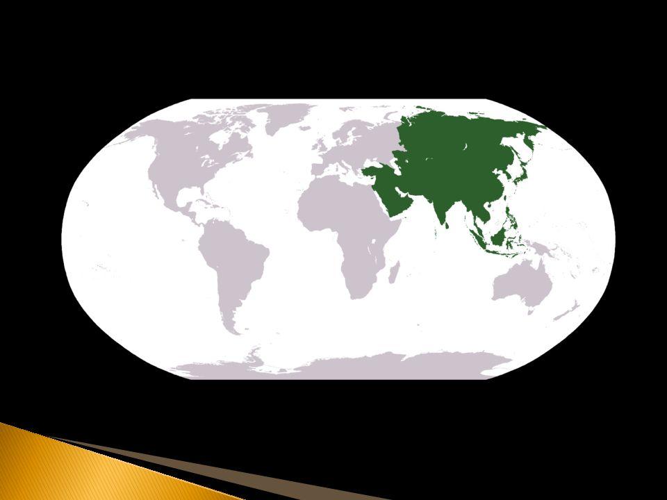  Největší světadíl (8,6% povrchu Země, 29,9% souše)  Nejlidnatější – cca 4 mld.