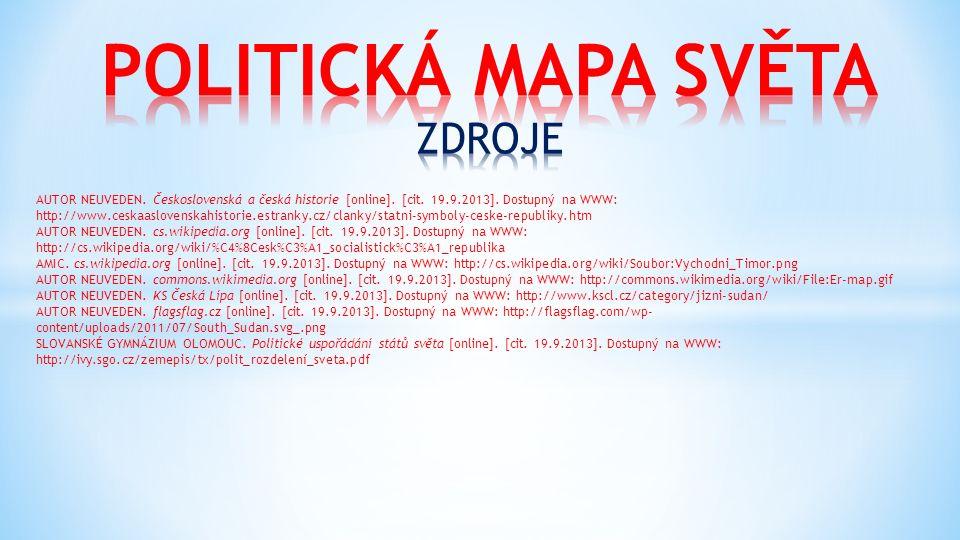 AUTOR NEUVEDEN. Československá a česká historie [online]. [cit. 19.9.2013]. Dostupný na WWW: http://www.ceskaaslovenskahistorie.estranky.cz/clanky/sta