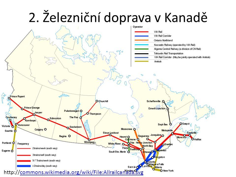http://commons.wikimedia.org/wiki/File:Allrailcanada.svg 2. Železniční doprava v Kanadě