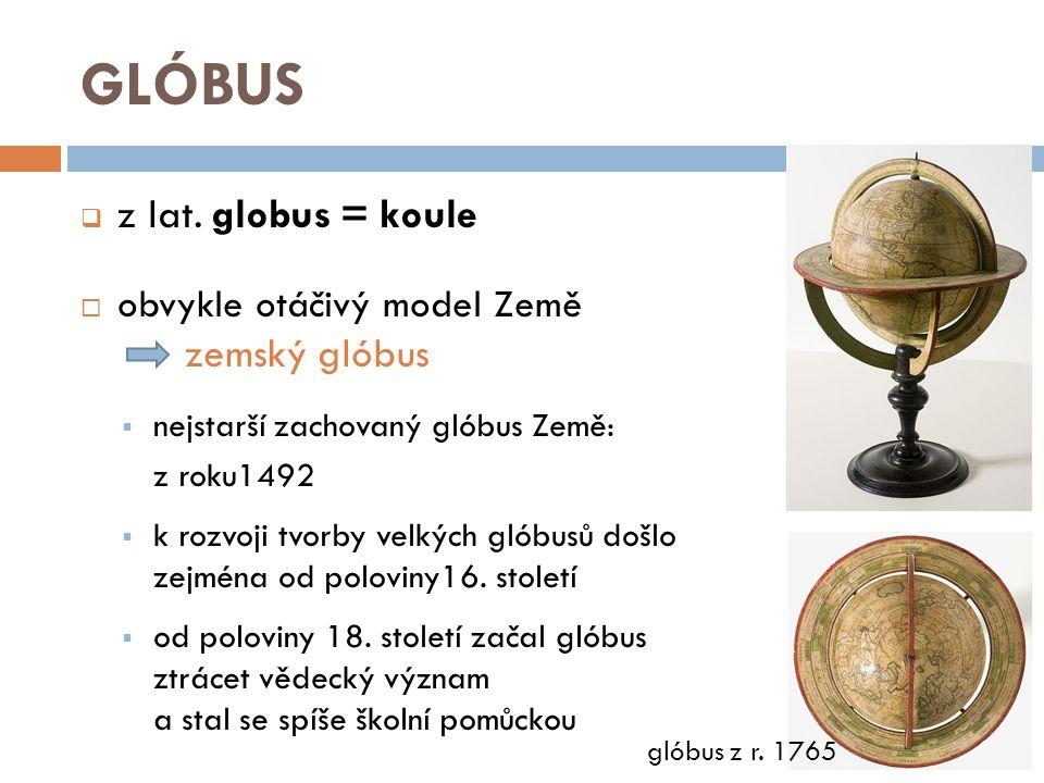 GLÓBUS  pohled na hvězdnou oblohu jako na kouli viděnou zvenčí nebeský glóbus  nebeský glóbus údajně používal už Archimédés (3.