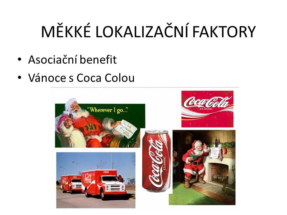 Asociační benefit Vánoce s Coca Colou MĚKKÉ LOKALIZAČNÍ FAKTORY