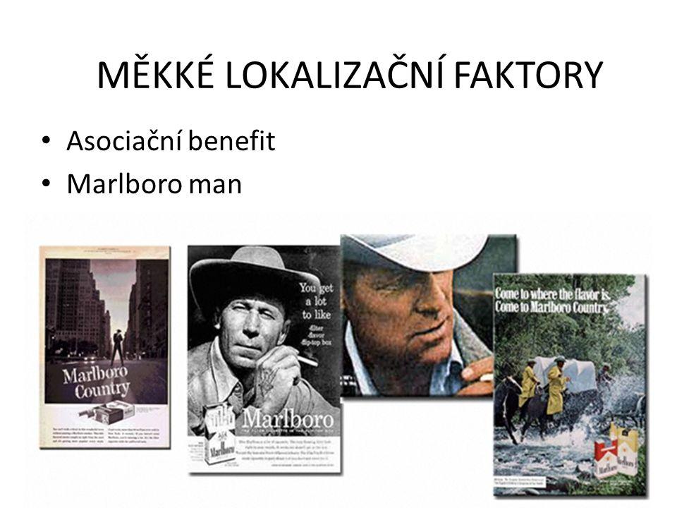 Asociační benefit Marlboro man MĚKKÉ LOKALIZAČNÍ FAKTORY