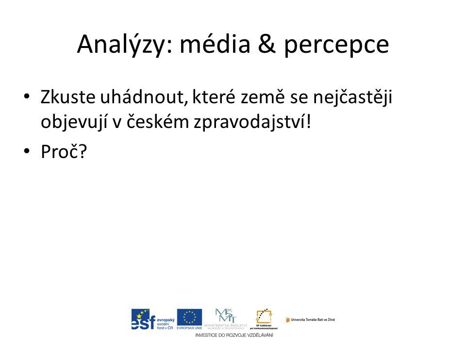 Zkuste uhádnout, které země se nejčastěji objevují v českém zpravodajství! Proč?