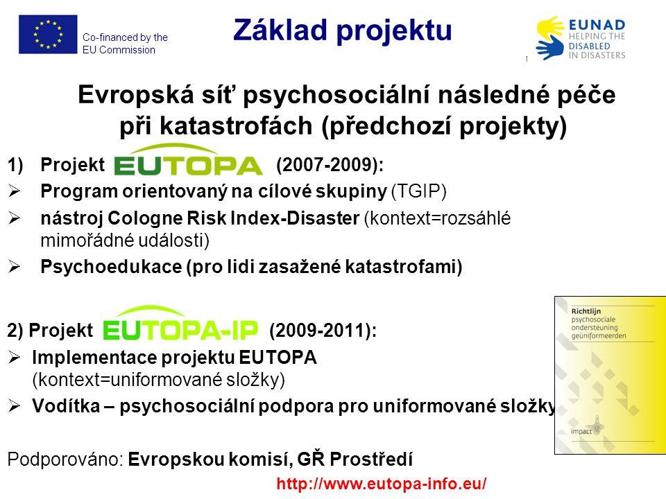 Co-financed by the EU Commission EUNAD No.ECHO/SUB/2012/640917 Problém screeningu Dle R.