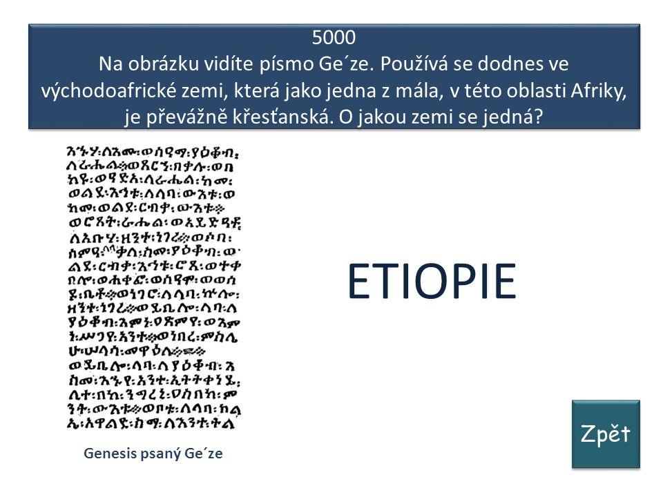 Zpět 5000 Na obrázku vidíte písmo Ge´ze.