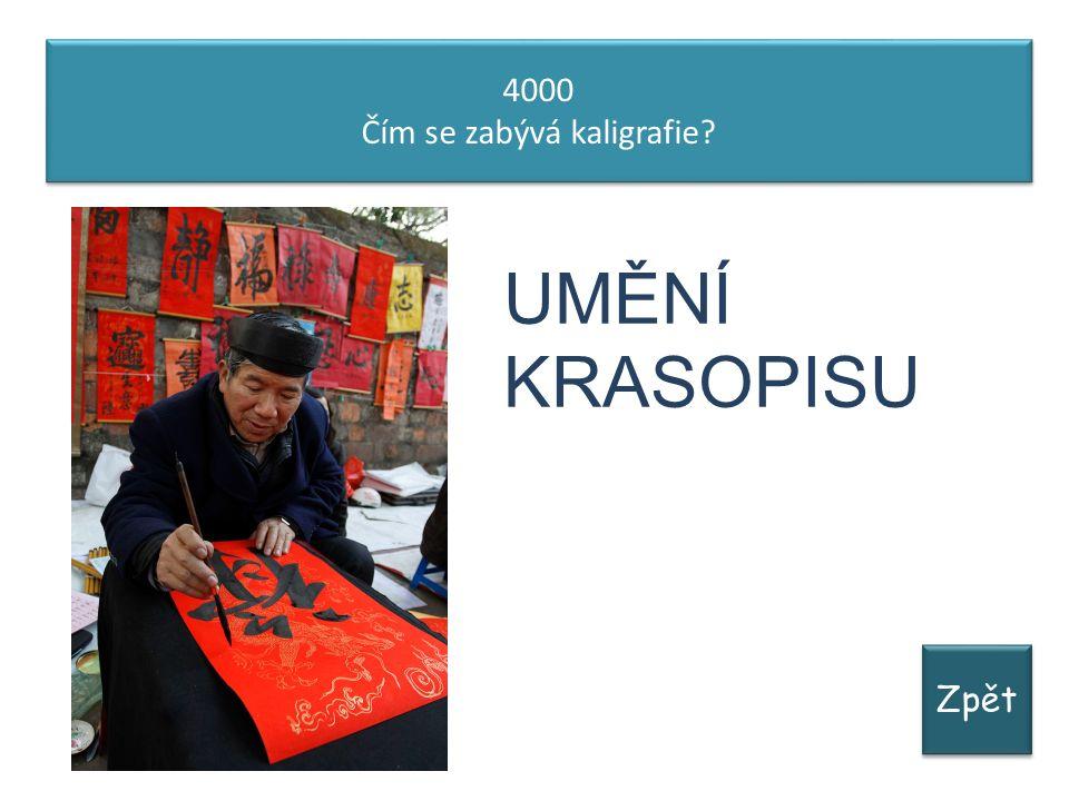 Zpět 4000 Čím se zabývá kaligrafie? 4000 Čím se zabývá kaligrafie? UMĚNÍ KRASOPISU