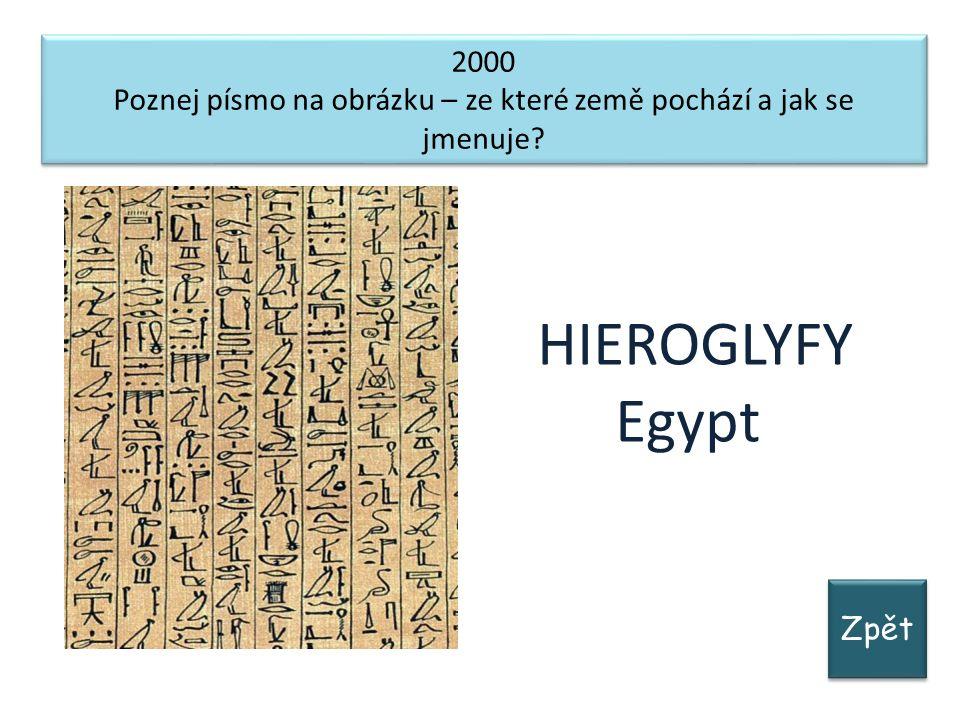 Zpět 2000 Poznej písmo na obrázku – ze které země pochází a jak se jmenuje.
