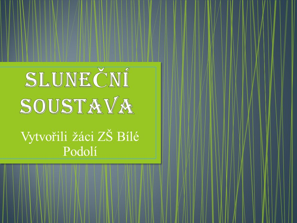 Autoři : Petr Procházka, Jakub Brož