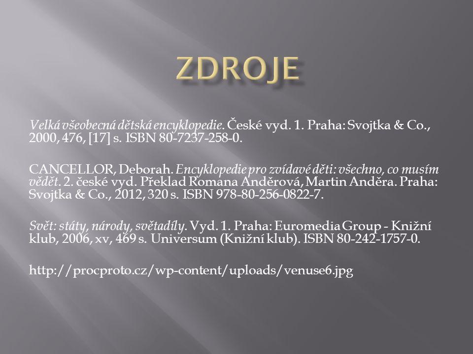 Velká všeobecná dětská encyklopedie. České vyd. 1.