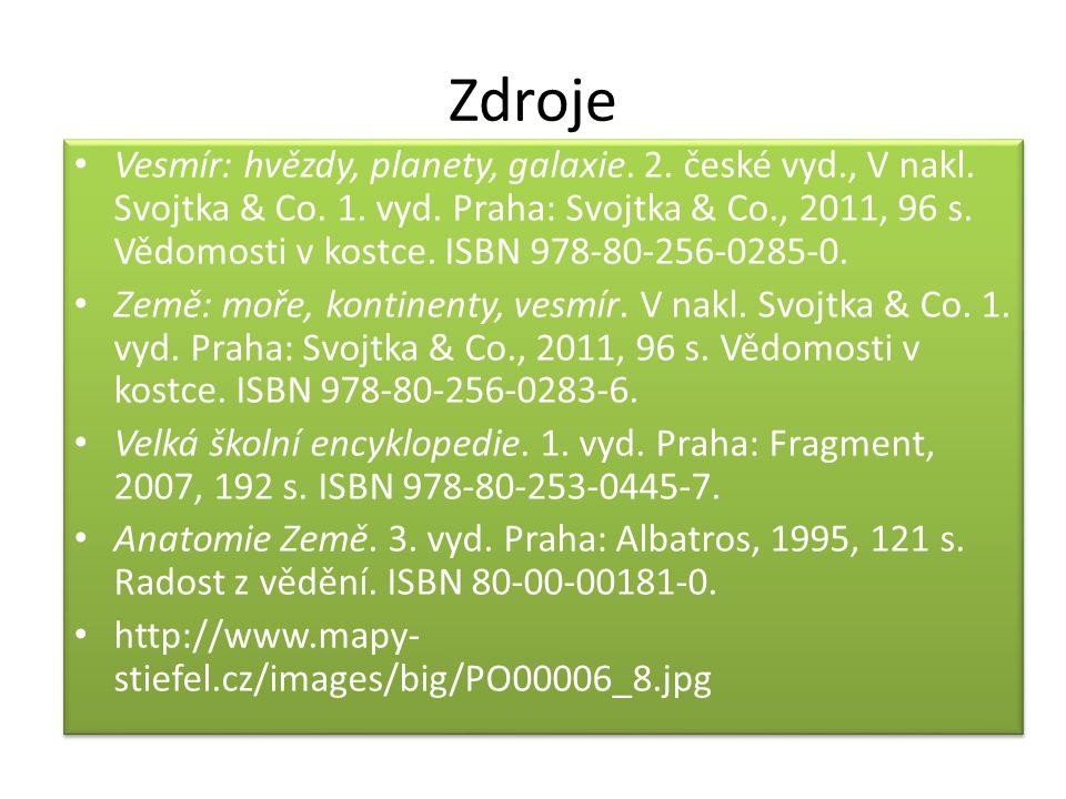 Zdroje Vesmír: hvězdy, planety, galaxie. 2. české vyd., V nakl.