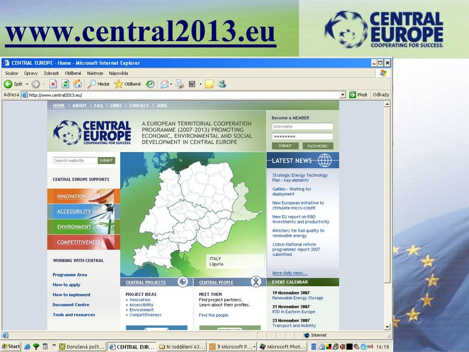 1.4.2008 Helena Kalasová www.central2013.eu