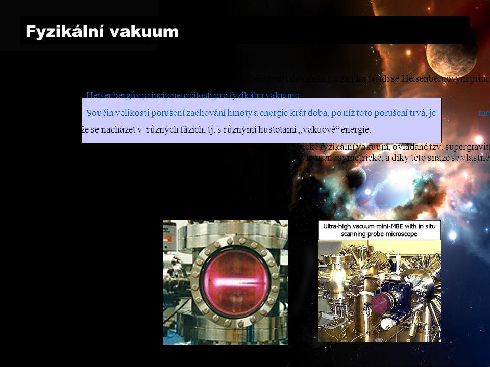 Fyzikální vakuum vlastnosti: obsahuje tzv.