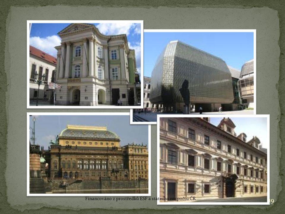 19 Financováno z prostředků ESF a státního rozpočtu ČR