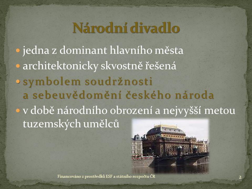 sochař 13 Financováno z prostředků ESF a státního rozpočtu ČR