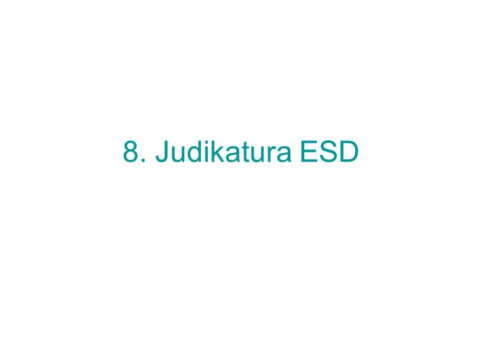8. Judikatura ESD