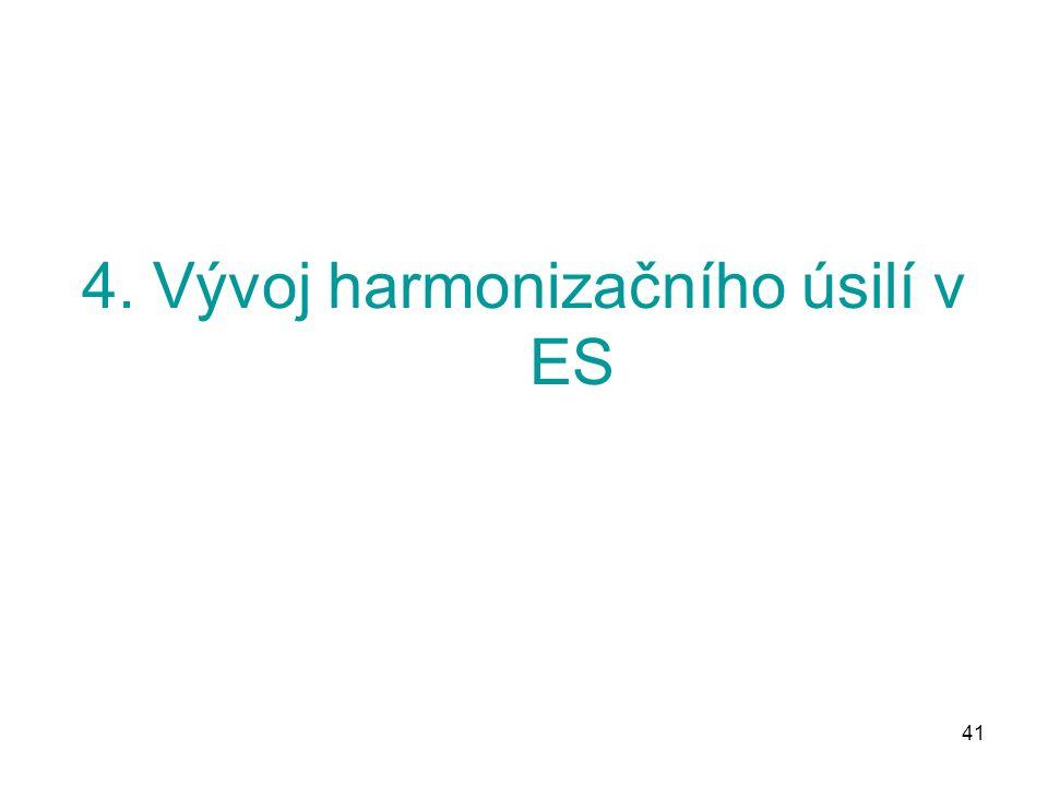 41 4. Vývoj harmonizačního úsilí v ES