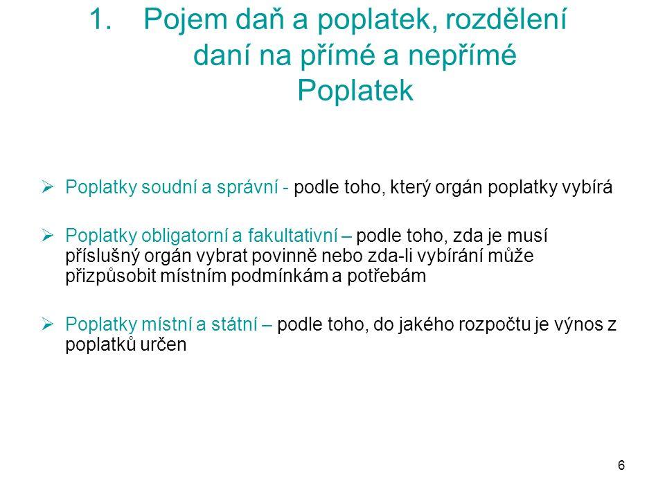 97 6.Harmonizace spotřebních daní Tabák a tabákové výrobky  směrnice Rady č.