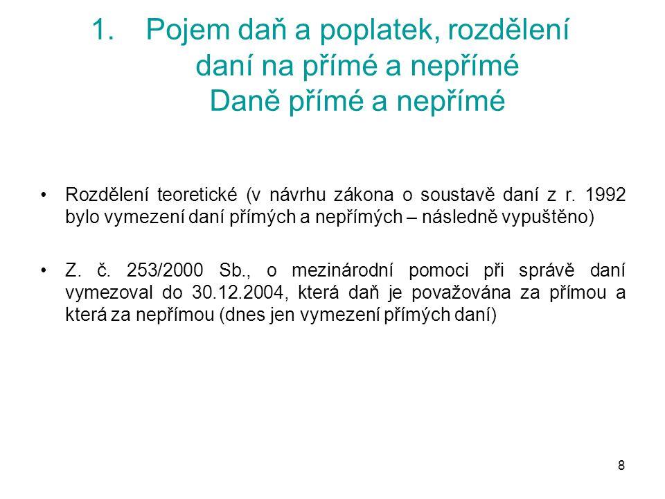 109 7.Harmonizace přímých daní Zdanění koncernových zisků  Směrnice Rady č.