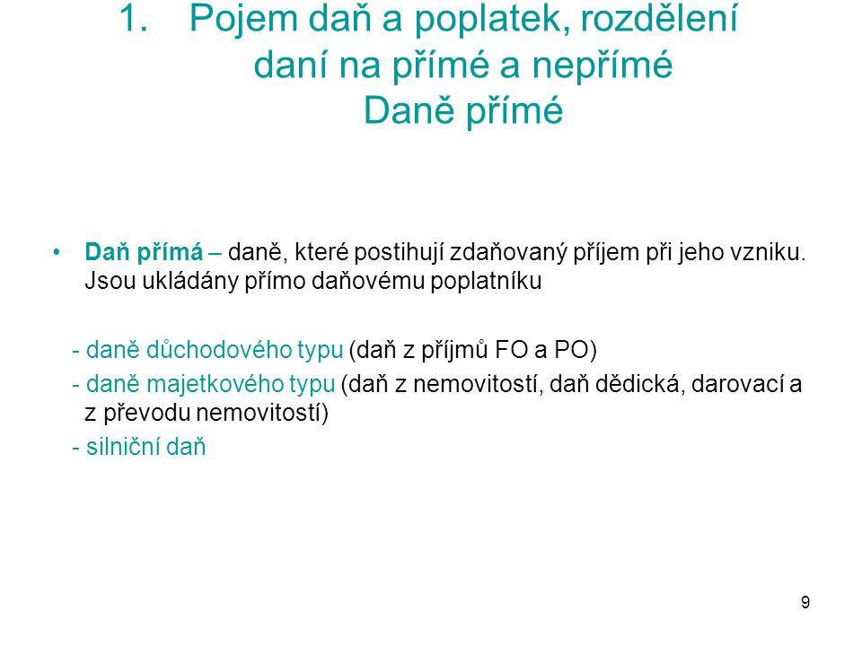 110 7.Harmonizace přímých daní Úroky a licenční poplatky  Směrnice Rady č.