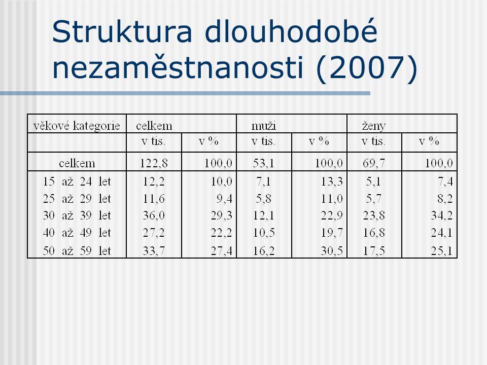 Struktura dlouhodobé nezaměstnanosti (2007)