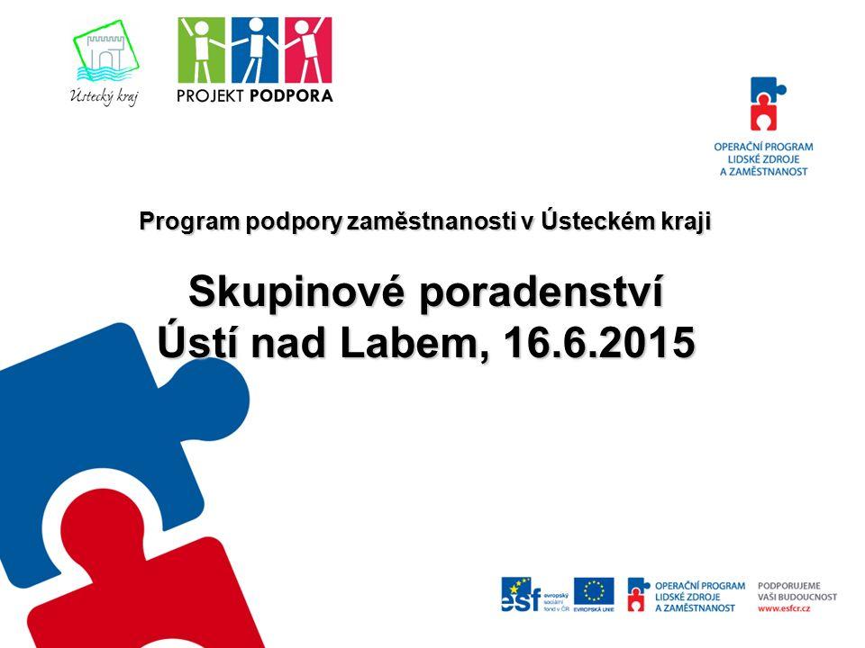 Program podpory zaměstnanosti v Ústeckém kraji Skupinové poradenství Ústí nad Labem, 16.6.2015