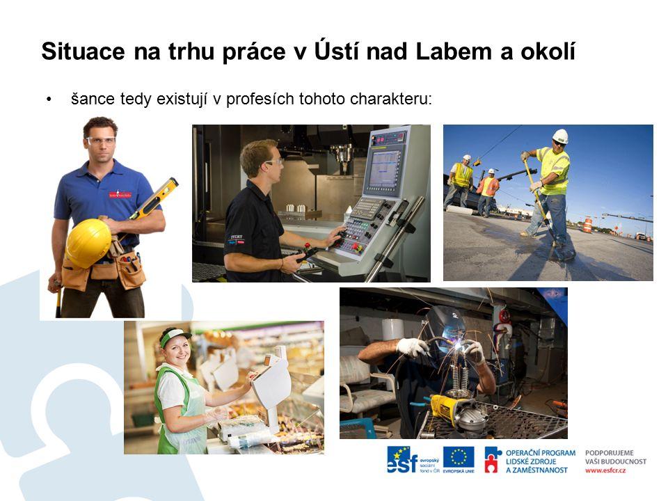 Situace na trhu práce v Ústí nad Labem a okolí šance tedy existují v profesích tohoto charakteru: