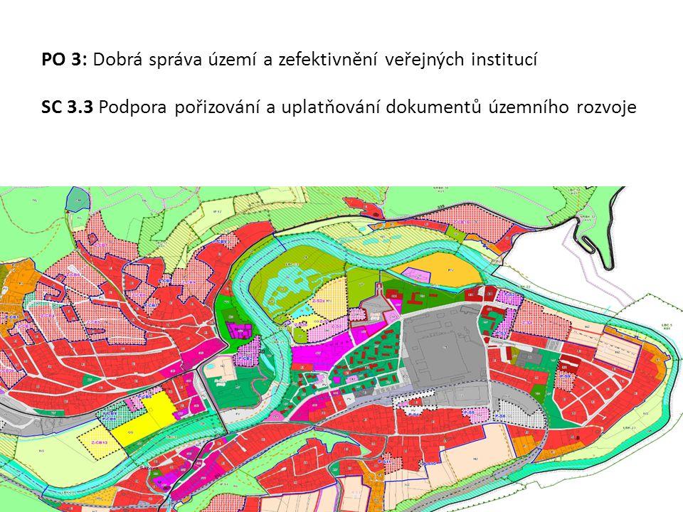 PO 3: Dobrá správa území a zefektivnění veřejných institucí SC 3.3 Podpora pořizování a uplatňování dokumentů územního rozvoje
