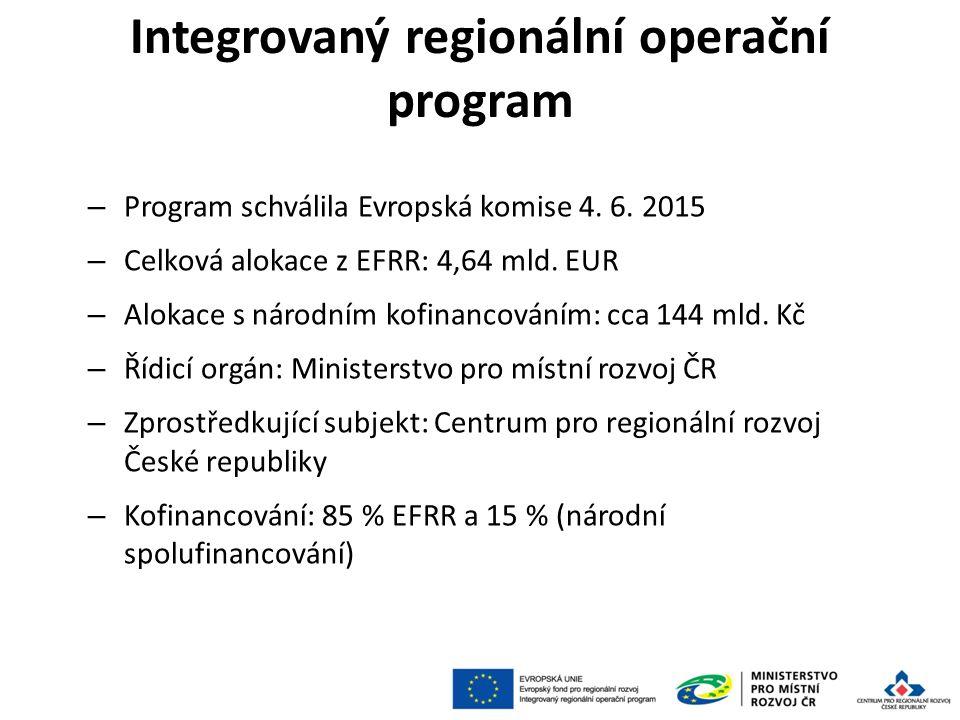 Integrovaný regionální operační program – Program schválila Evropská komise 4.