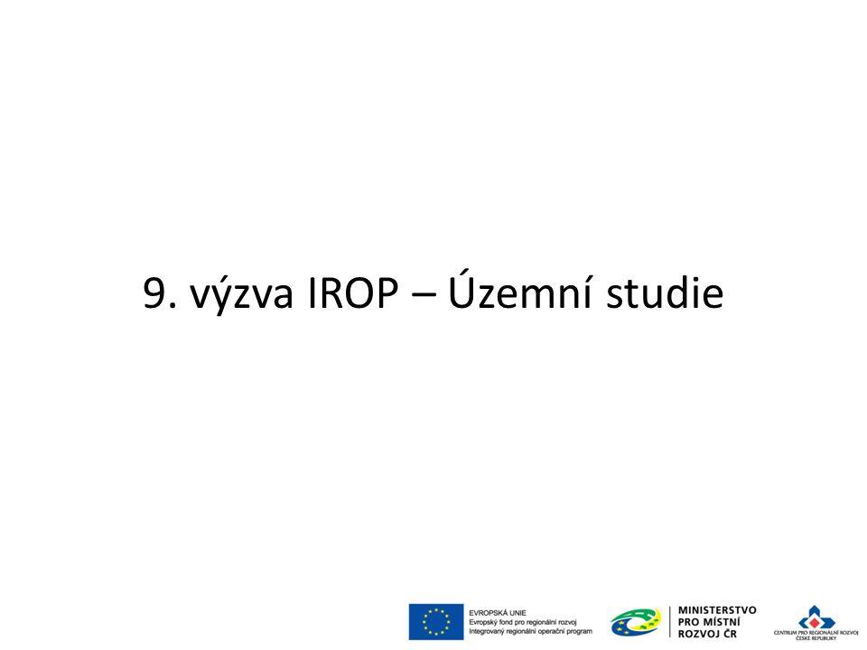 9. výzva IROP – Územní studie 71
