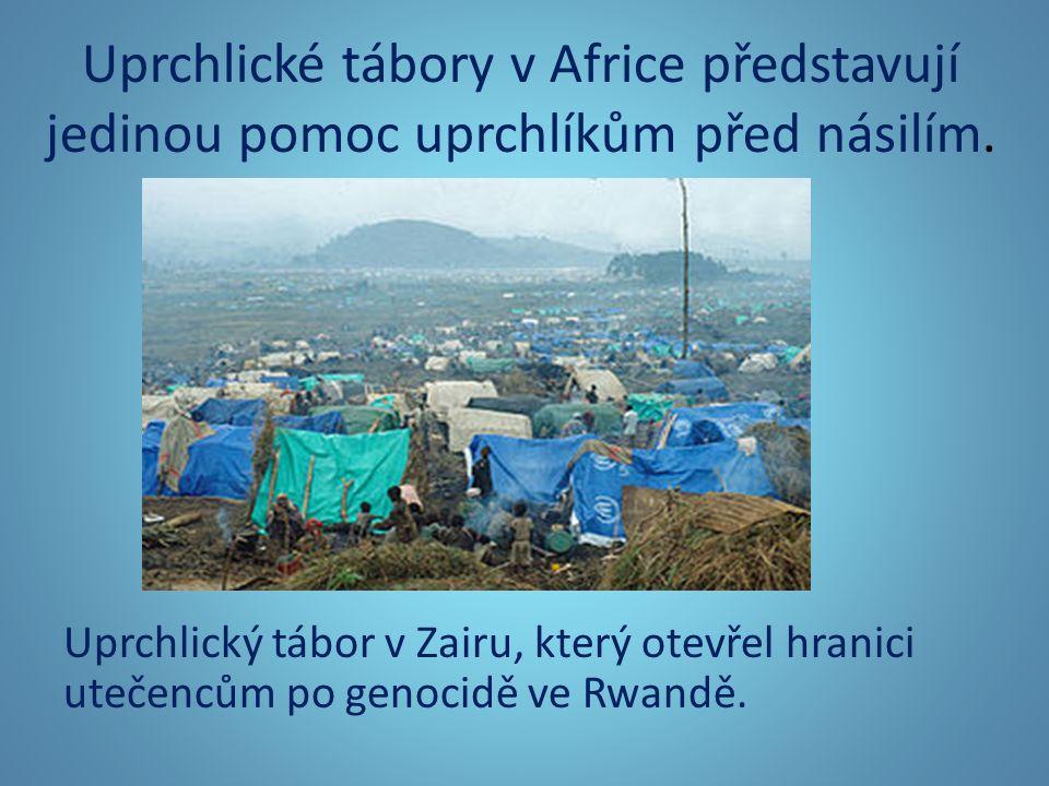 Uprchlické tábory v Africe představují jedinou pomoc uprchlíkům před násilím.