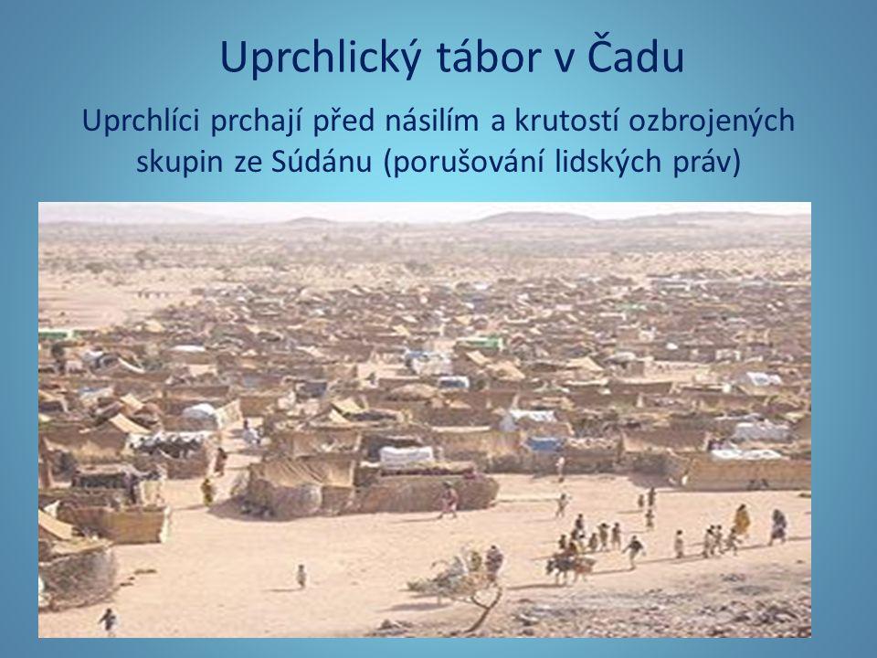Uprchlický tábor v Čadu Uprchlíci prchají před násilím a krutostí ozbrojených skupin ze Súdánu (porušování lidských práv)