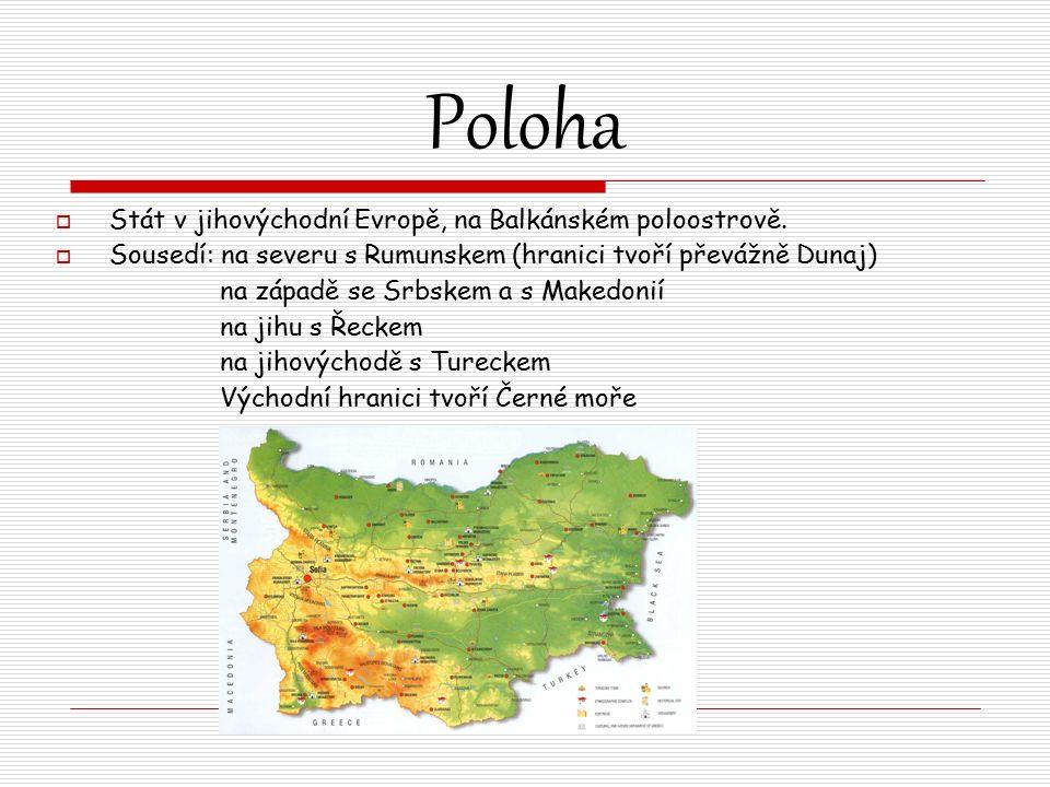 Poloha  Stát v jihovýchodní Evropě, na Balkánském poloostrově.