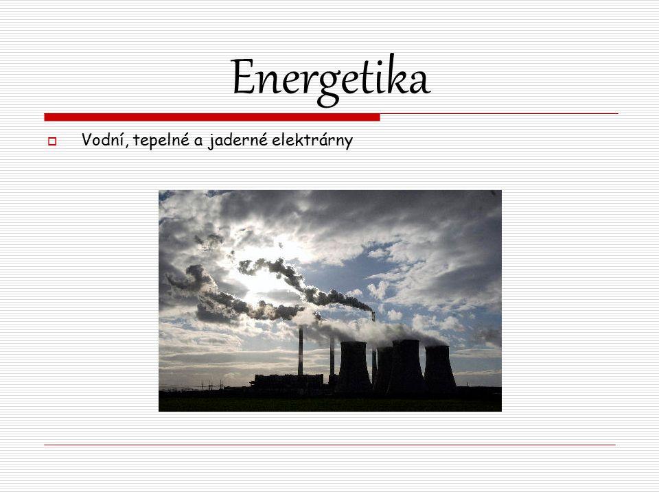 Energetika  Vodní, tepelné a jaderné elektrárny