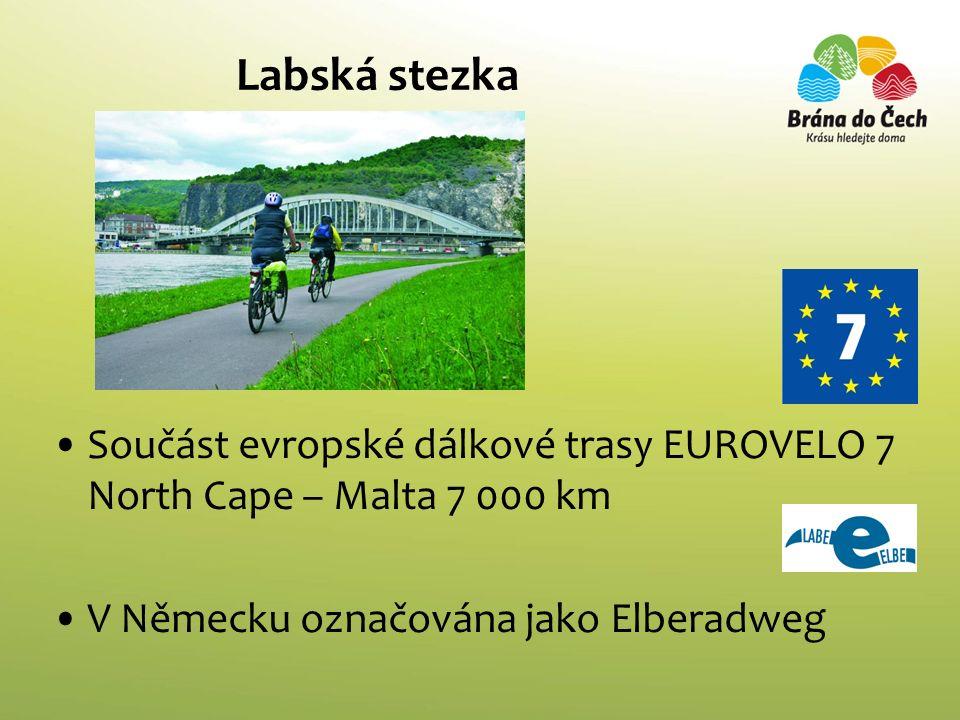 Labská stezka Součást evropské dálkové trasy EUROVELO 7 North Cape – Malta 7 000 km V Německu označována jako Elberadweg