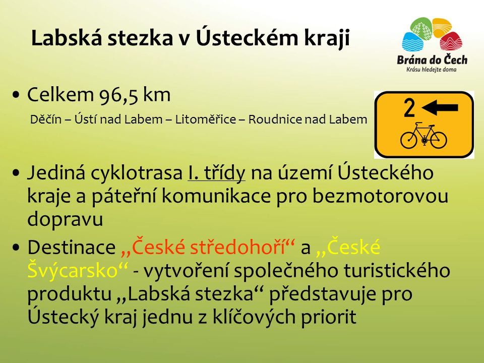 EuroVelo, the European cycle route network Evropa Ústecký kraj Česká republika