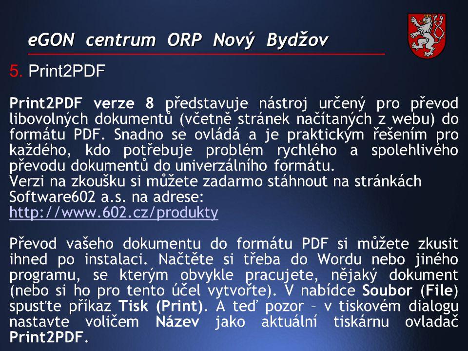 eGON centrum ORP Nový Bydžov 5.