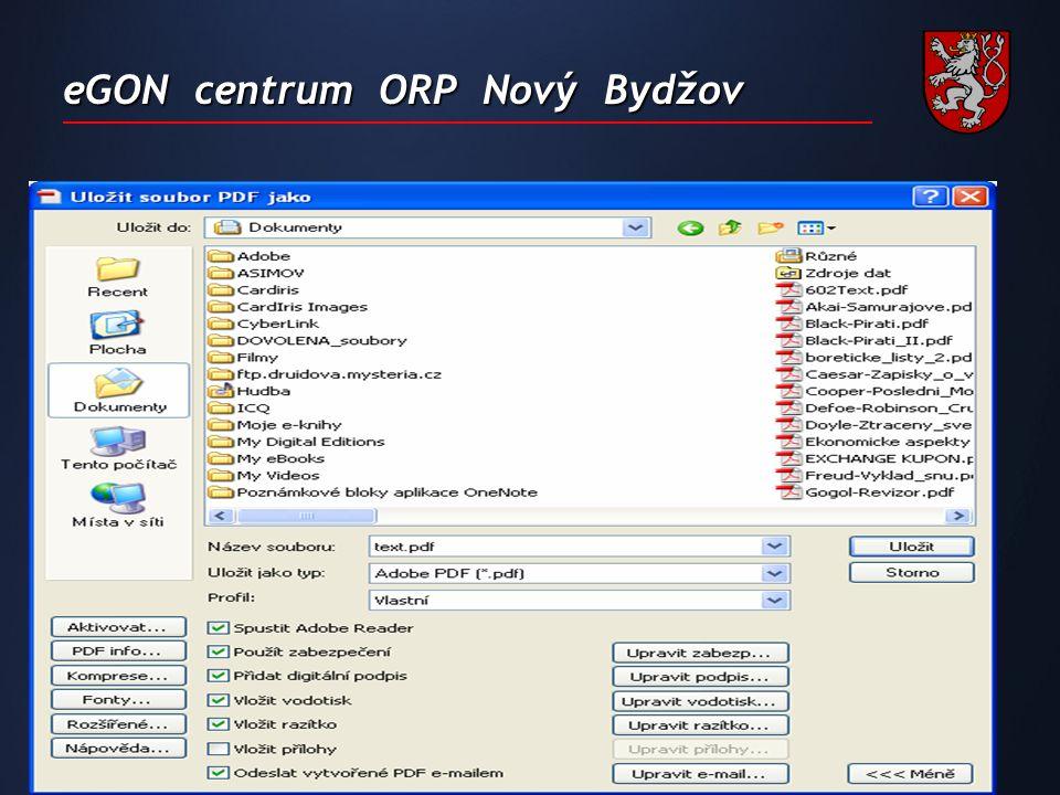 eGON centrum ORP Nový Bydžov