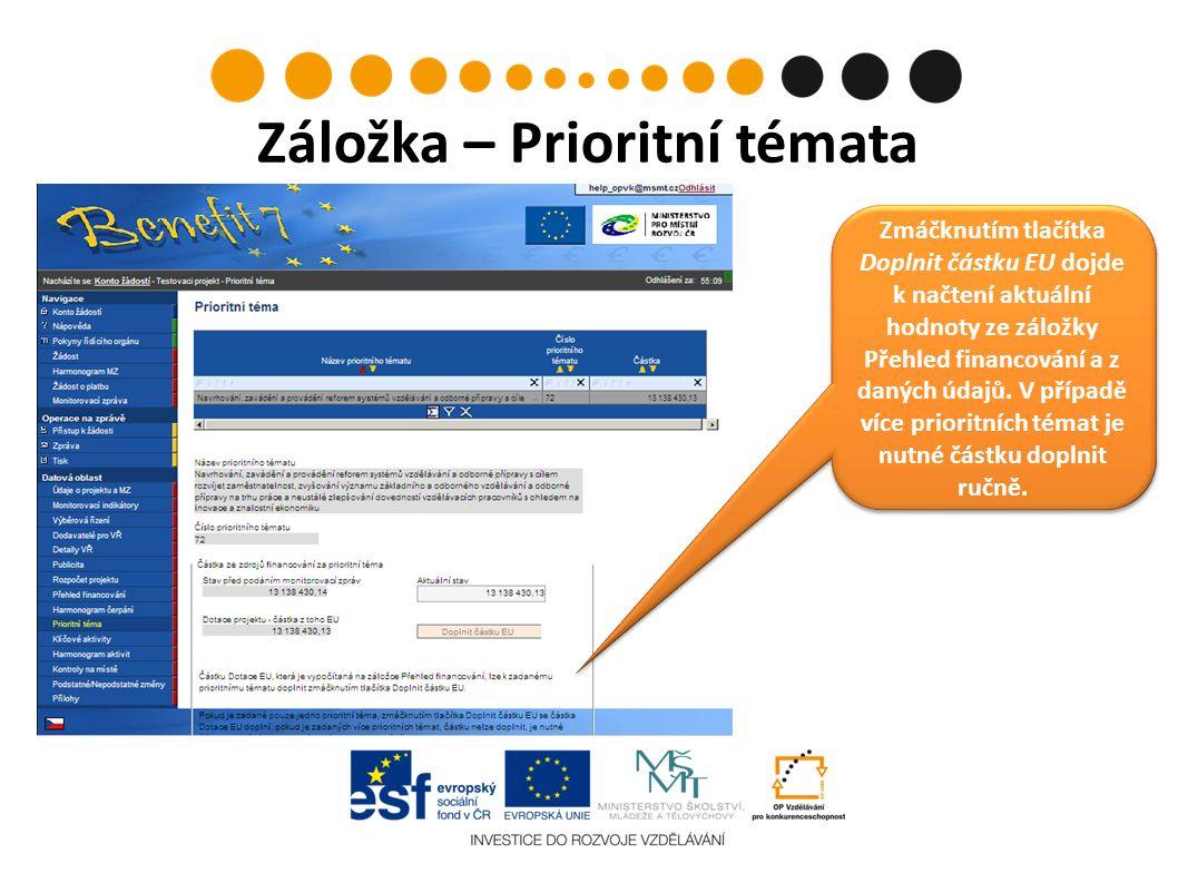 Pracovní výkaz Příjemce vyplní veškeré relevantní kolonky – základní informace o projektu, identifikaci pracovníka a jeho zapojení pro projekt a do dalších činností pro příjemce/partnery