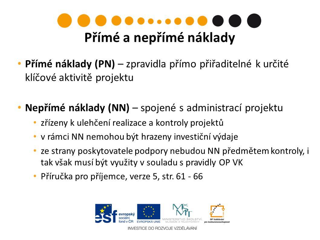 Monitorované období Vypracování MZ Prvotní výdaj z provozního účtu čas Situace č.