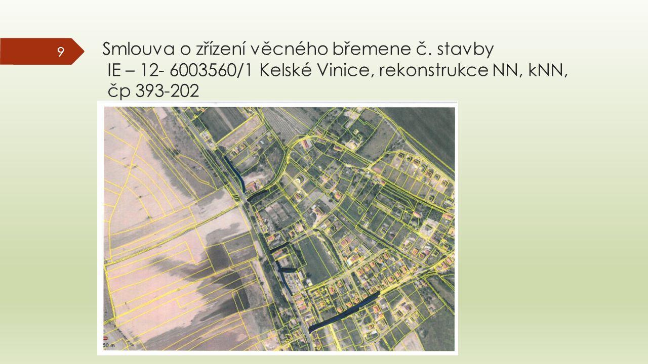 Smlouva o zřízení věcného břemene č.