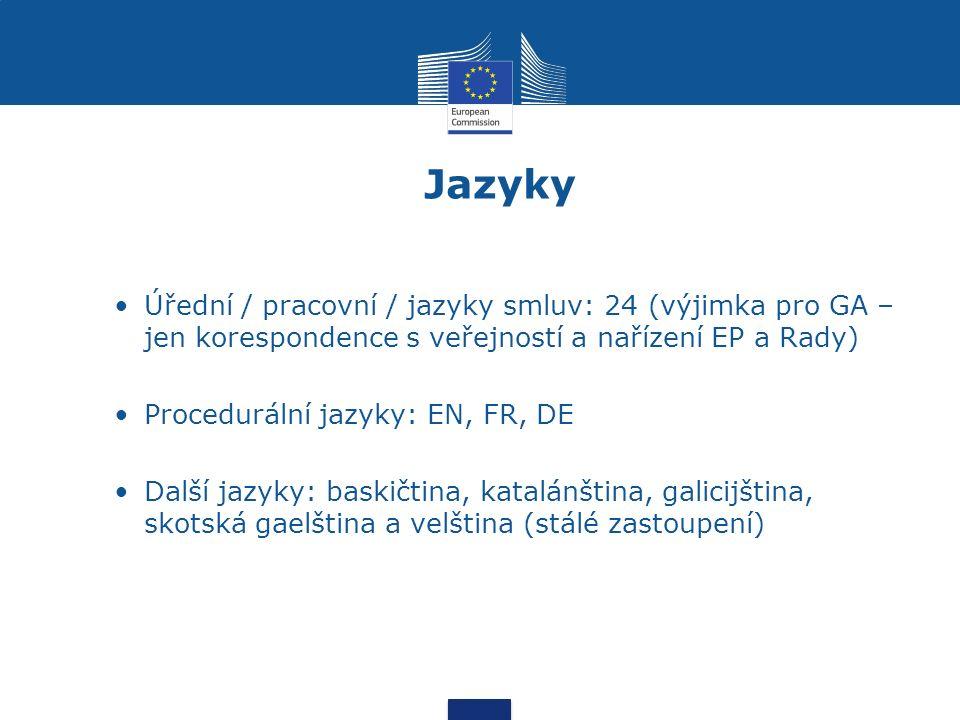 Vzdělávání a profesní rozvoj Tematické a IT vzdělávání Jazykové kurzy (týdenní, intenzivní, pobyty v zemi, VTS) Profesní mobilita v rámci Komise i jiných orgánů EU