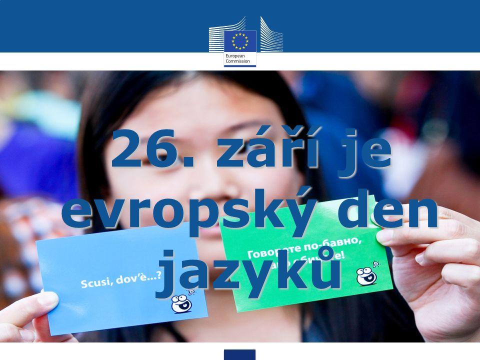 26. září je evropský den jazyků