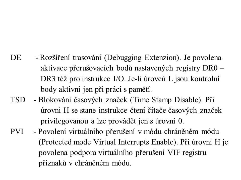 DE - Rozšíření trasování (Debugging Extenzion).