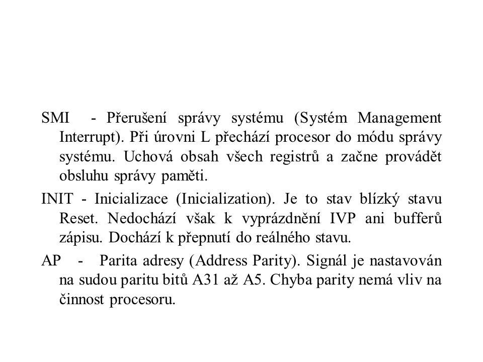 SMI - Přerušení správy systému (Systém Management Interrupt).