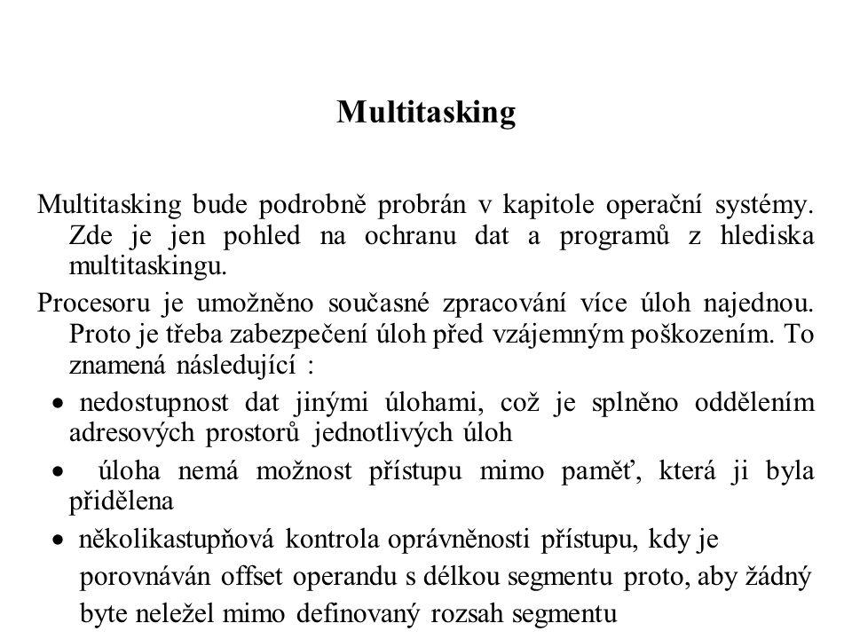 Multitasking Multitasking bude podrobně probrán v kapitole operační systémy.